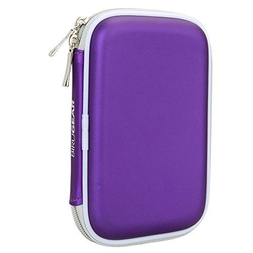 BIRUGEAR Hard Shell Carrying Case for Toshiba Canvio 3.0 Portable Hard Drive/ Automatic Backup / Canvio Basics 3.0 / Canvio Slim / Canvio Connect II / Canvio Premium - Purple