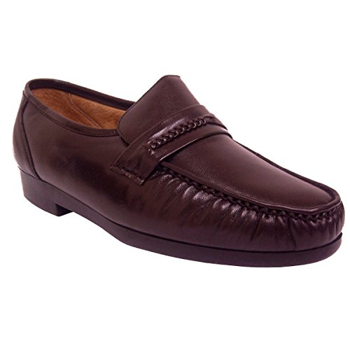 Mocassino Climax X Mens 21592-2 Mocassino In Pelle Bordeaux (7 W, Bordeaux)