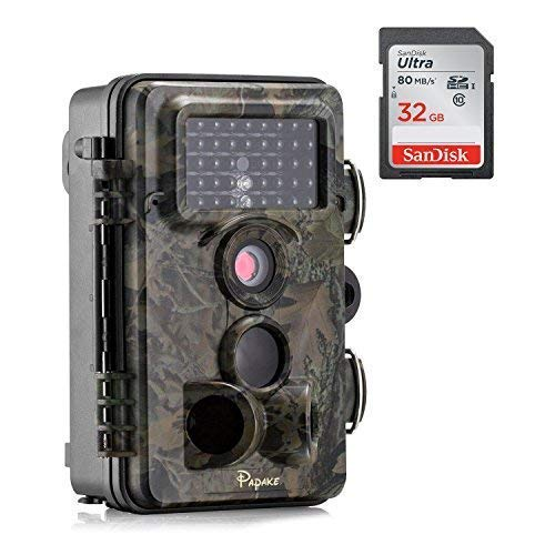 Trail Camera, Papake 1080P HD Wildlife Camera 12 MP Surveill