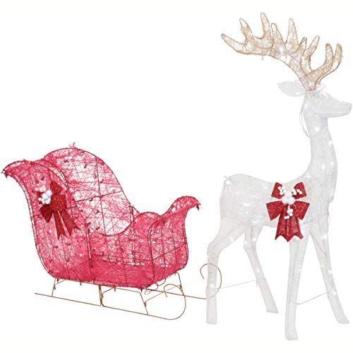Outdoor Sleigh With Lights in US - 5