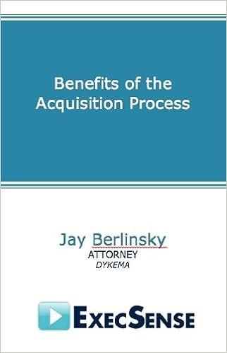 Download online Benefits of the Acquisition Process PDF, azw (Kindle), ePub, doc, mobi