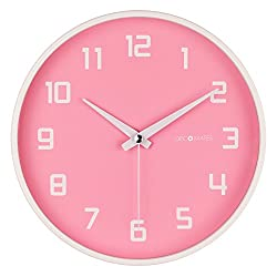DecoMates Non-Ticking Silent Wall Clock, Pink Fruity Watermelon