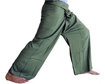 UnisexAll Unisex Pants for Yoga - Dark Green Color
