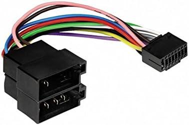 Sound Way Cable Adapter Kabelbaum Iso Kompatibel Mit Autoradio Jvc 16 Pin Auto