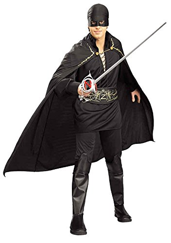 UHC Men's Deluxe Zorro Masked Bandit Theme Party Fancy Dress Costume, Standard (up to (Masked Bandit Costume)