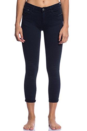Abbino 3D-6109 Jeans avec Des Poches Femme Fille - 7 Couleurs - Fashion Moderne Jean Transition Automne Hiver Casual Jeune Elegante Dlicat Charme Dynamique Confortable Vente - Gris - XS 36 Bleu Marine