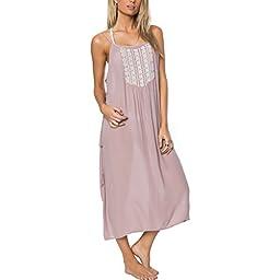 O\'Neill Women\'s Lulu Maxi Cover up Dress, Natural/Natural, XL
