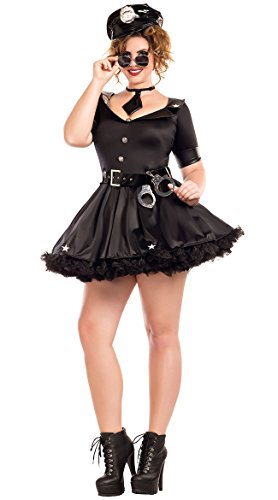 Handcuff Honey Cop Costumes (Cuff Me Honey Plus Size Adult Costume - Plus Size 1X)