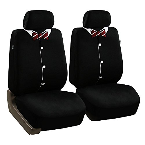 FH Group FB058BOW102 Bow Tie Seat Cover (Endearing Bowtie Airbag Compatible (Set of 2))