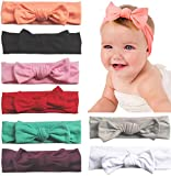 Baby Headbands Turban Knotted, Girl's Hairbands for Newborn,Toddler and Childrens (8Pcs-CL6)