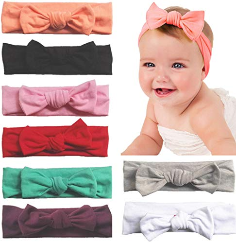Bow Headbands Darling Baby - Toptim Baby Headbands Turban Knotted, Girl's Hairbands for Newborn,Toddler and Childrens