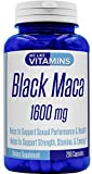 Black Maca Max Strength 1600mg – 200 Capsules – Best Value Black Maca Supplement on Amazon – Helps to Support a Strong Reproductive System