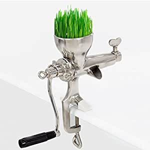New Stainless Steel Wheat Grass Hand Juicer Manual Juice Wheatgrass Extractor
