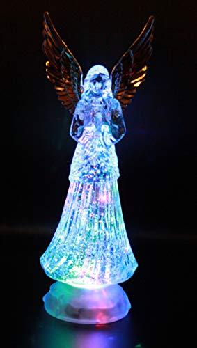Crystal Angel LED Lighted Sparkling Multi-Color Changing Figurines 12