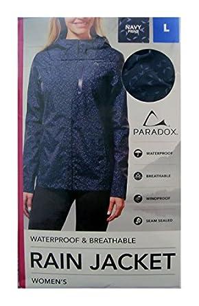 Amazon.com: Paradox Women's Platinum Waterproof Rain Jacket,(Size ...