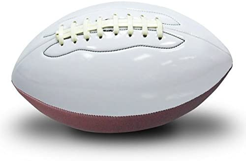 Premium 290-AUTFI Synthetic Fiber Regulation Inflated Autograph Football - 白い