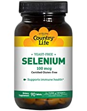 Country Life Selenium 100 mcg, Yeast Free, Tablets, 90-Count
