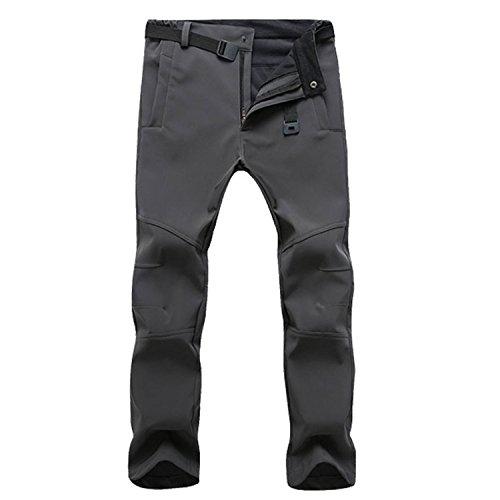 SUKUTU Mens Outdoor Waterproof Fleece Climbing Hiking Skate Cargo Pants Slim Fit by SUKUTU
