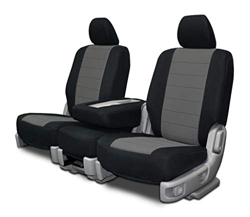 Custom Fit Seat Covers for Chevy/GMC 40-20-40 Seats - Charcoal Neoprene Fabric