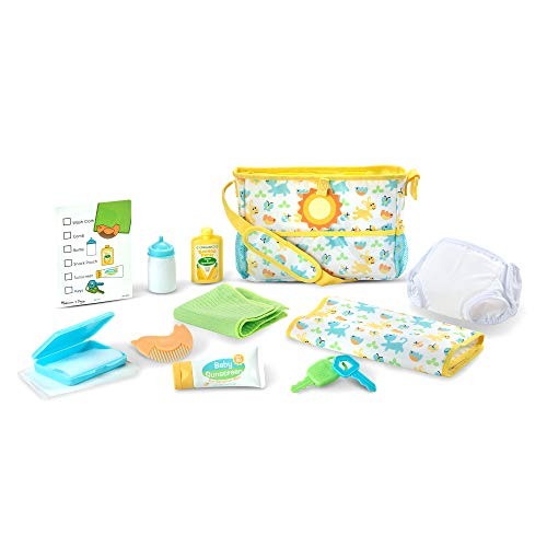 Melissa & Doug Mine to Love Travel Time Play Set for Dolls (Diaper Bag, Bottle, Sunscreen, More, 17 Pieces, Great Gift for Girls and Boys - Best for 3, 4, 5 Year Olds and Up)