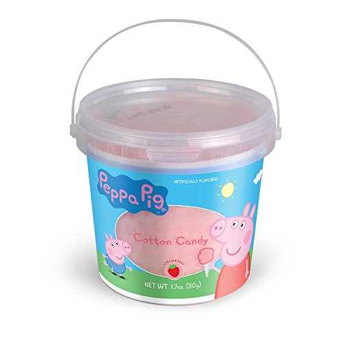 Primary Colors Candy Peppa Pig Birthday Party Supplies, Strawberry Flavored Cotton Candy 1.7 Ounce Tub Pack of 12 from Primary Colors Candy