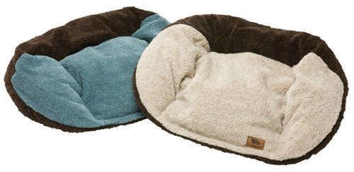 West Paw Design Tuckered Out Stuffed Dog Bed, Beachglass/Chocolate – Large 42″ x 29″, My Pet Supplies