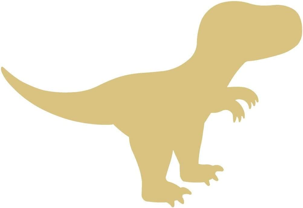 T-rex Cutout Unfinished Wood Dinosaur Animal Prehistoric History Play Room Door Hanger MDF Shaped Canvas Style 1