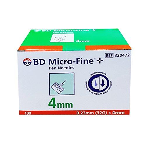 Bd Micro Fine Plus 32g X 4mm Pen Needles 100 Count by Bd Micro-fine Plus