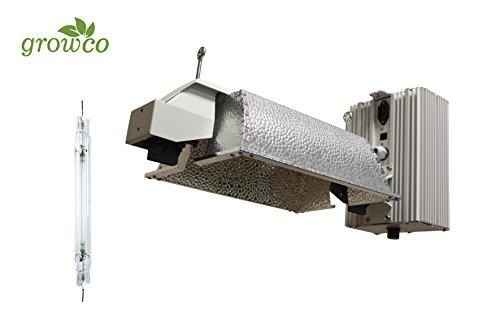 Grow Co. 1000W Pro Series Controller Compatible DE Fixture w/1000W DE HPS Lamp For Sale
