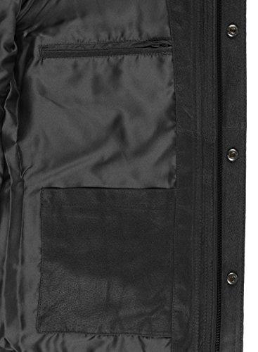 Giacca Alto Vera In 9000 Uomo Giacche Da Black Giubotto Lash Collo Di solid Pelle Con nbsp; 5wqnFH7OSx