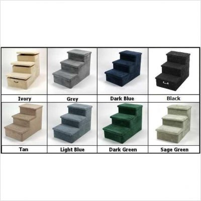 Heavy Duty 4 Step Pet Stair Color: Tan, Hinged Steps: None, Wheels and Handle: No