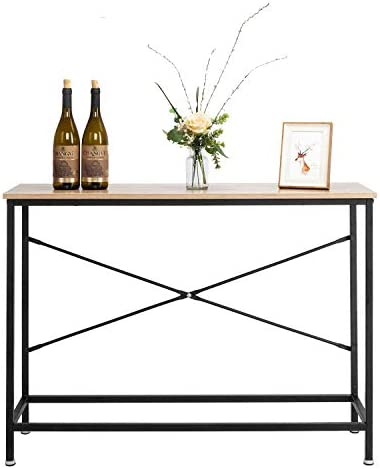 Bonnlo Entry Way Console Table Sturdy Metal Frame Sofa Table