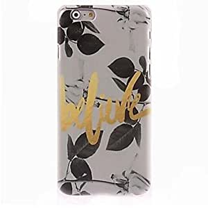 CuteFaiy Cases For Apple Iphone Believe Pattern Case for iPhone 6