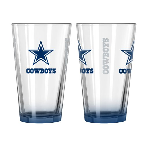NFL Dallas Cowboys Elite Pint Glass, 16-ounce, 2-Pack - Nfl Pint Glasses
