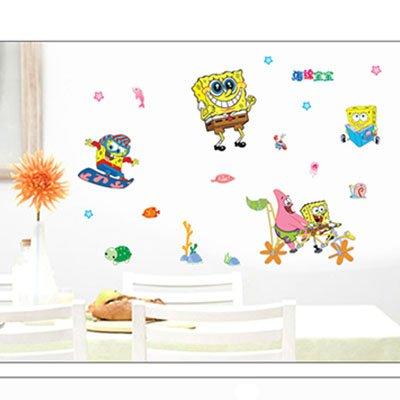 Gadfly- Sponge Bob Peel & Stick Nursery/baby Wall Sticker - Murals Wall Spongebob