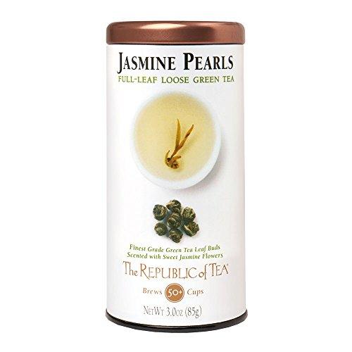 The Republic of Tea Jasmine Pearls Full-Leaf Tea, 3.0 Ounces, 50 Cups, Premium China Green Tea Blend ()