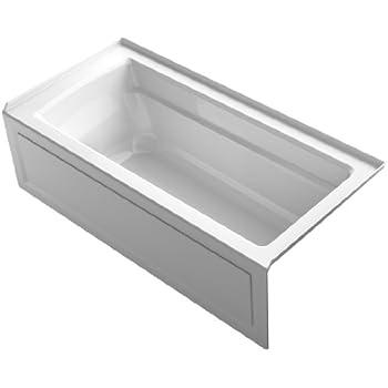 Kohler K 1946 La 0 Alcove Bath With Integral Apron Tile
