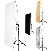 Fovitec StudioPRO - 35 x 70 Rectangular Reflector Panel - [Contains Reversible 1x Silver/Gold and 1x Black/White Panel][Carrying Sleeve Included]