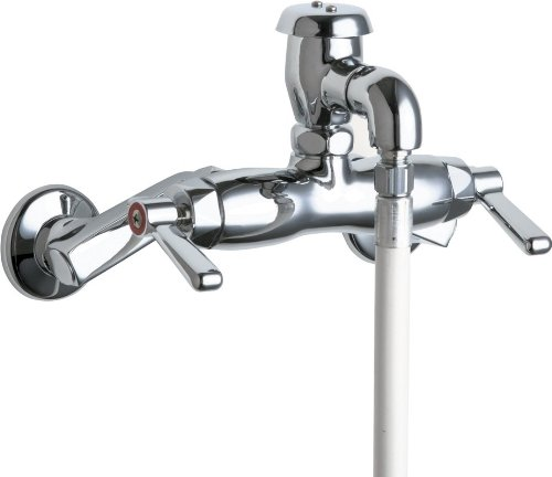 Chicago Faucets 956-RCP Service and Wash Sink Fittings - Adjustable 4''-8 3/8'' Centers, Chrome