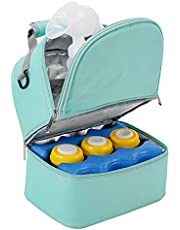 Yitengteng Double Layer Breastmilk Cooler Bag with Ice Pack,breast Milk Cooler on The Go,breastmilk Cooler Bag Keep It Fresh