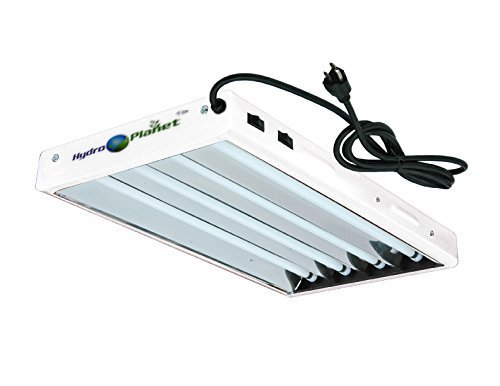 Hydroplanet™ T5 2ft 4lamp Fluorescent HO Bulbs Included for Indoor Horticulture Gardening T5 Grow Lights Fixtures (4 Lamp, 2ft)