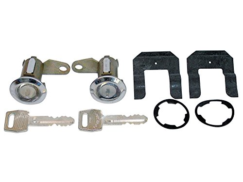 1970 Ford Galaxie (New 1965-70 Ford Galaxie, Falcon, Fairlane, 1970-77 Bronco, Torino, Mercury Comet Door Lock Cylinder Key Set (LCK23))