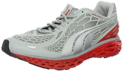 PUMA Men's BioWeb Elite Running Shoe,High Rise Heather/Puma Silver, 9 M US