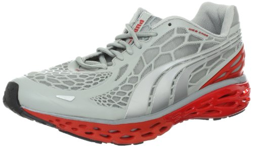 (PUMA Men's BioWeb Elite Running Shoe,High Rise Heather/Puma Silver, 8.5 M US)