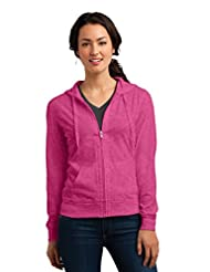 District Women's Lightweight Jersey Full Zip Hoodie