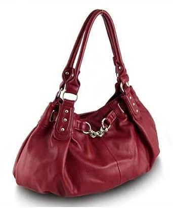 Large Slouchy Hobo Handbag (Red)
