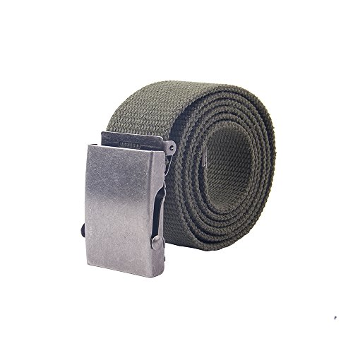 Canvas Cotton Belt (Gelante Canvas Web Belt Military Style Belt)