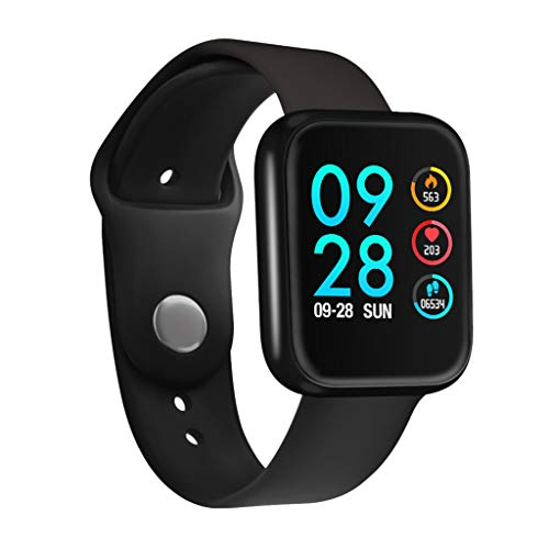 JinJin Smart Watch Sports High-End Fitness Tracker Activity Trackers Health Exercise Watch with Heart Rate and Sleep Blood Pressure Watch (black) (Android Best Notification App)