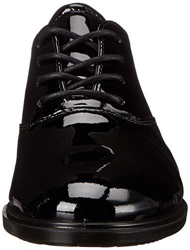 con B Negro Zapatos Cuero de Ecco Touch Black4001 Mujer Ecco 15 Cordones aBTqfCWF