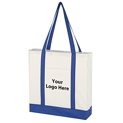 Non-Woven Tote Bag With Trim Colors - 100 Quantity - $1.95 Each - PROMOTIONAL PRODUCT / BULK / BRANDED with YOUR LOGO / CUSTOMIZED by Sunrise Identity